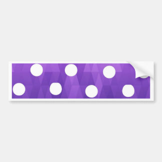 Vivid polka dots  big white purple by healing love bumper sticker