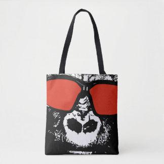 Vivid Pop Art Gorilla Ape Tote Bag