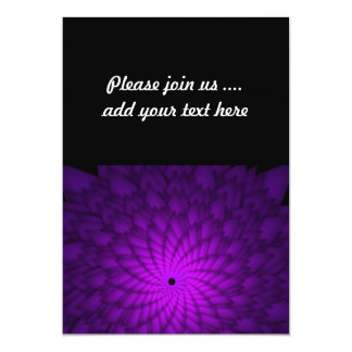 Vivid Purple Abstract Flower Art 13 Cm X 18 Cm Invitation Card