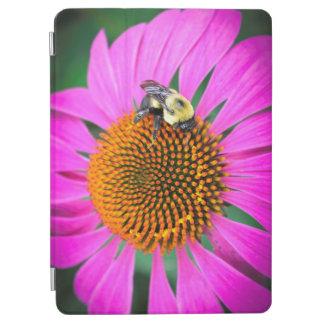 Vivid Purple Flower with Bee iPad Pro Cover