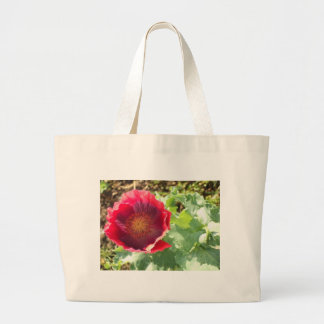 Vivid red Poppy Large Tote Bag