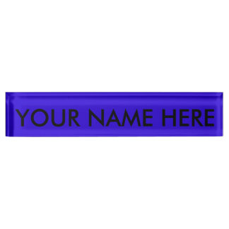 VIVID SAPPHIRE BLUE (solid color) ~ Nameplate