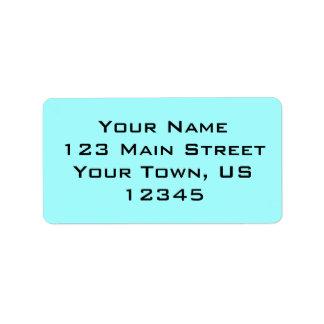 Vivid Sky Blue Address Label