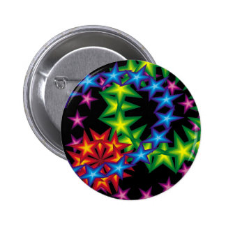 vivid star rings pinback buttons