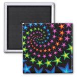 vivid star spirals fridge magnet