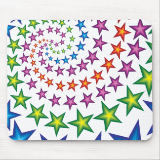 vivid star spirals mouse pad