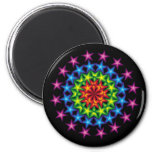 vivid stars circles 6 cm round magnet