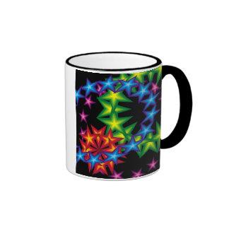 vivid stars circles mugs