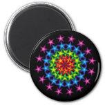 vivid stars circles refrigerator magnet