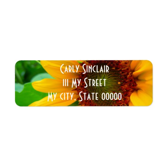 VIVID SUNFLOWER II RETURN ADDRESS LABEL
