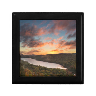 Vivid Sunrise Over Lake Of The Clouds In Autumn Gift Box