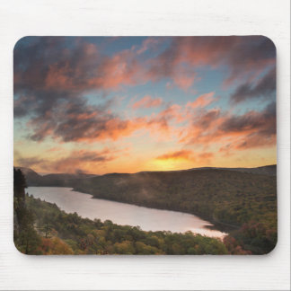Vivid Sunrise Over Lake Of The Clouds In Autumn Mouse Mat