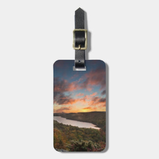 Vivid Sunrise Over Lake Of The Clouds In Autumn Tags For Luggage