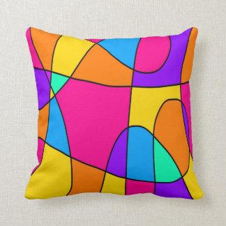 Vivid Swirls Abstract Throw Pillow