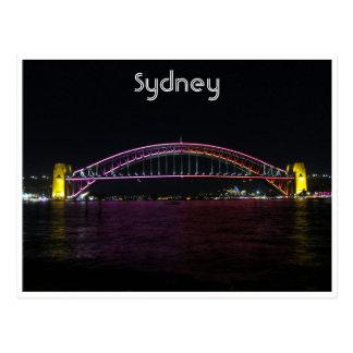 vivid sydney bridge postcard