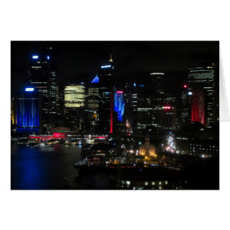 vivid sydney night greeting cards