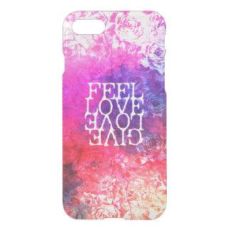 Vivid Vintage Grunge Floral Love Saying Design iPhone 7 Case