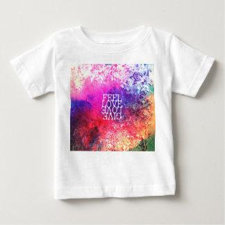 Vivid Vintage Grunge Floral Love Saying Design Shirt