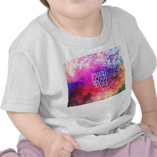 Vivid Vintage Grunge Floral Love Saying Design Tshirt