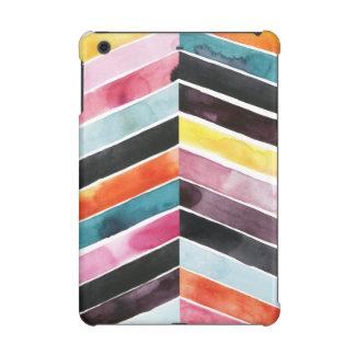 Vivid Watercolor Chevron I iPad Mini Retina Case