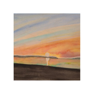 Vivid Watercolor Sunrise Abstract Art