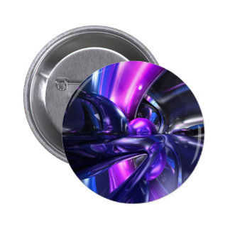 Vivid Waves Abstract Button