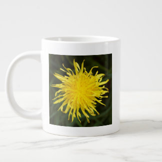 Vivid Yellow Dandelion Large Coffee Mug