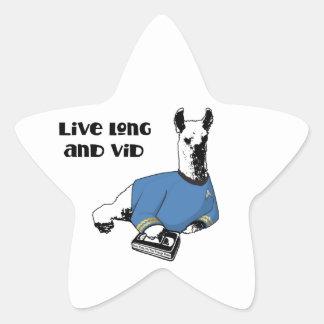VividCon 2015 Llama Stickers - Star