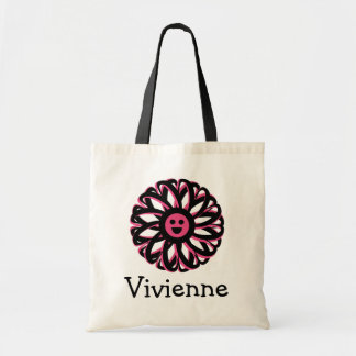 Vivienne Happy Flower Personalized Tote Bag