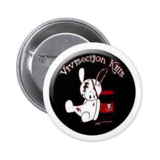 Vivisection Kills 6 Cm Round Badge