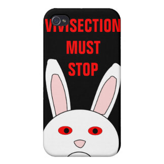 Vivisection Must Stop Sad Lab Rabbit 4 Case For The iPhone 4