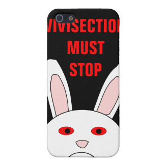 Vivisection Must Stop Sad Lab Rabbit 4 iPhone 5 Cases