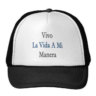 Vivo La Vida A Mi Manera Mesh Hats