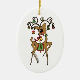 Vixen Christmas Ornament