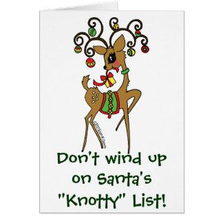 "Vixen / Santa's ""Knotty"" List Card"