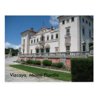 Vizcaya, Miami Flordia Postcard