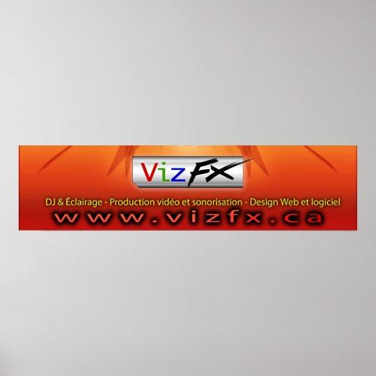 VizFX Banner Poster