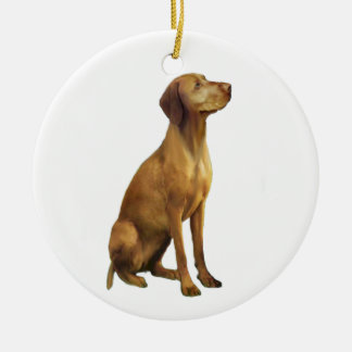 Vizsla (A) Round Ceramic Decoration