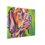 Vizsla Bright Colourful Pop Dog Art Stretched Canvas Print