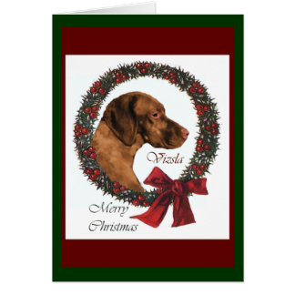 Vizsla Christmas Gifts Card