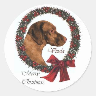 Vizsla Christmas Gifts Classic Round Sticker