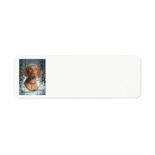 Vizsla Christmas Return Address Labels