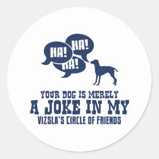 Vizsla Classic Round Sticker