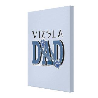 Vizsla DAD Gallery Wrapped Canvas