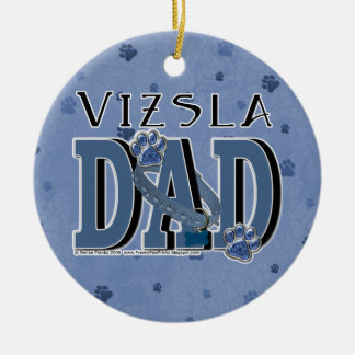 Vizsla DAD Round Ceramic Decoration
