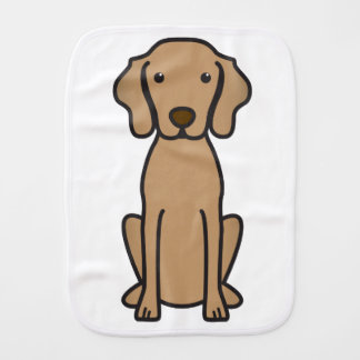 Vizsla Dog Cartoon Baby Burp Cloth