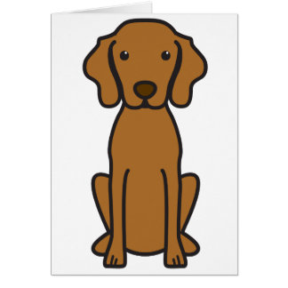 Vizsla Dog Cartoon Card