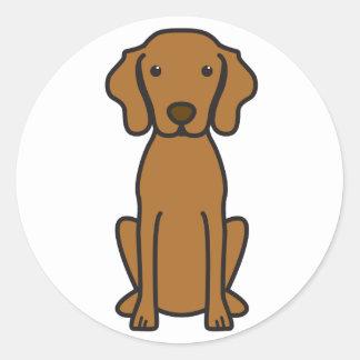 Vizsla Dog Cartoon Classic Round Sticker