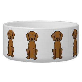Vizsla Dog Cartoon Dog Bowl