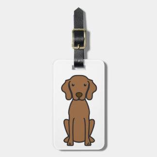Vizsla Dog Cartoon Luggage Tag
